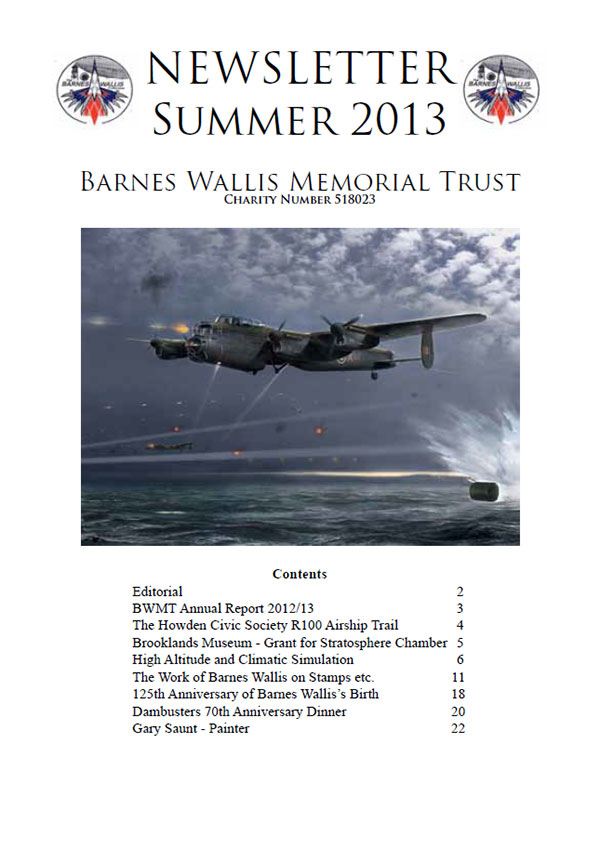 Barnes Wallis Newsletter 2013