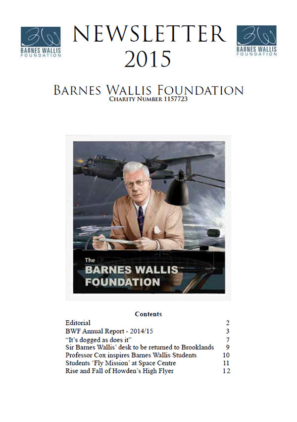 Barnes Wallis Foundation Newsletter 2015