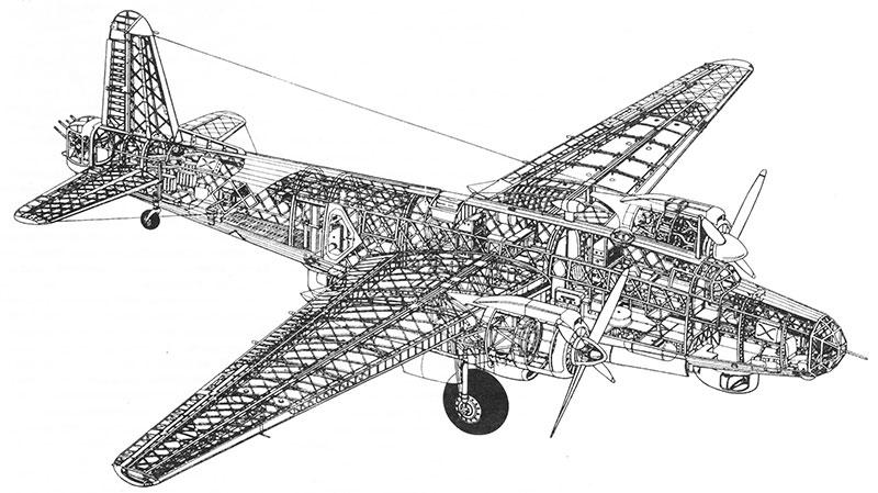 Vickers Warwick Bomber Cutaway