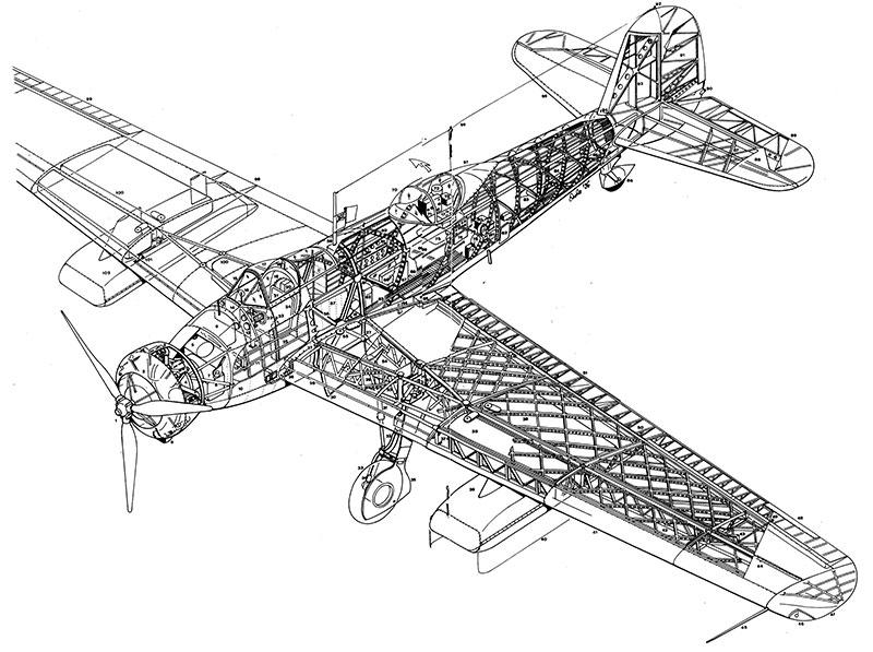 Vickers Wellesley Bomber Cutaway