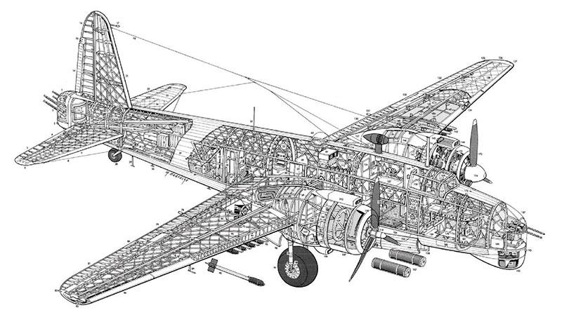 Vickers Wellington Bomber Cutaway