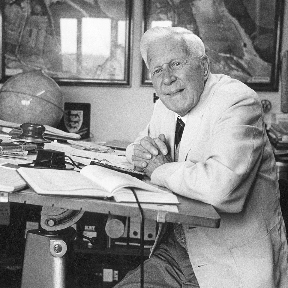Barnes Wallis At Work During Retirement