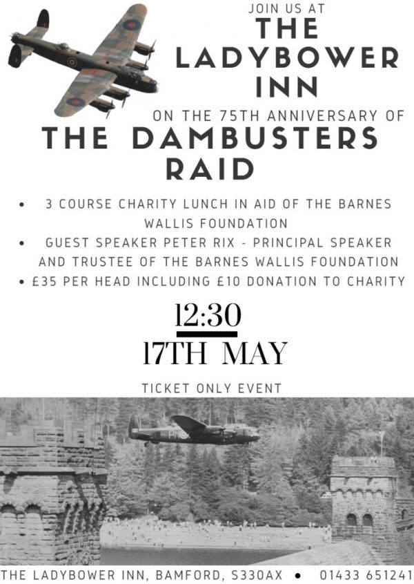 Poster for the charity lunch at Ladybower Inn, 17th May 2018